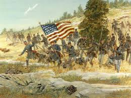 How Many Streamers Are On The Army Flag Civil War Art From Cmh Prints And Posters Sets Civil War
