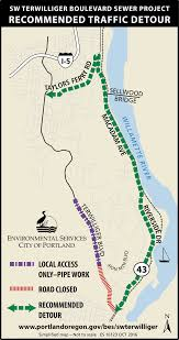 Portland Oregon On Map by Sw Terwilliger Boulevard Sewer Project The City Of Portland Oregon