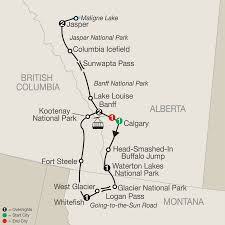 Canada National Parks Map by Canadian Rockies And Glacier National Park Sept 13 21 2016