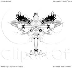 royalty free rf clipart illustration of an ornamental cross with