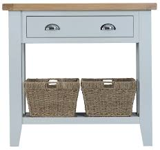 Antique White Console Table Toronto Small Console Table With Baskets Painted In Grey Also