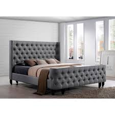beautiful upholstered headboards dream bed a button tufted winged headboard and footboard complete