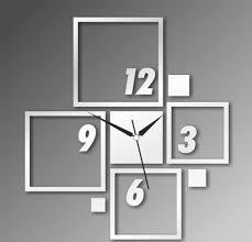 Large Mirrored Wall Clock Innovative Mirror Wall Clock 16 Mirror Wall Clock Set Zoom Wall