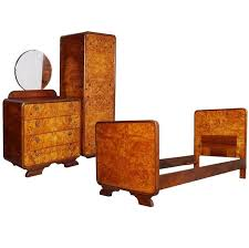 art deco bedroom suite circa 1930 for sale at 1stdibs art decò bedroom set by osvaldo borsani birch and walnut burl period