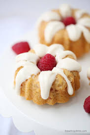 mini raspberry bundt cakes with cream cheese glaze i heart nap time