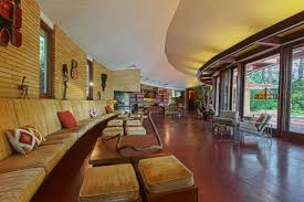 frank lloyd wright living room want to stay in a 2 75 million frank lloyd wright house it s on