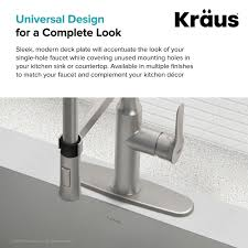 kitchen faucet deck plate parts kraususa