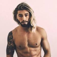 male models with long straight hair men s hairstyles long straight hairstyle