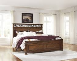 Ashley Bed Frames by B529 96 Signature By Ashley Lazzene Queen Panel Rails Medium Brown