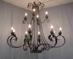 Antique Black Chandelier Wrought Iron U0026 Antler Chandeliers U0026 Lighting Rustic Tuscan