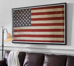 Pottery Barn Contact Us American Flag Framed Print Pottery Barn