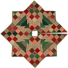 christmas applique christmas patch tree skirt quilt pattern cmq 109 christmas quilt