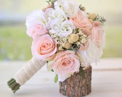 silk wedding bouquet silk bridal bouquet etsy
