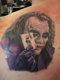 tattoo pictures joker 3d tattoo heath ledger the joker tattoos