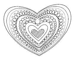 heart mandala coloring pages online coloring pages princess