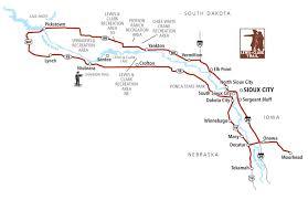 Mahoney State Park Map by Great Plains Auto Tours Lewis U0026 Clark Trail
