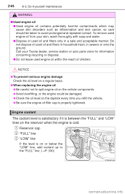 engine coolant toyota yaris 2017 3 g owners manual