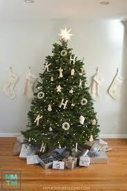 monogrammed christmas tree hello nutritarian