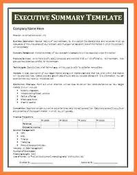 sample executive summary template 8 documents in pdf word