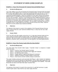statement of work template 12 free pdf word excel documents