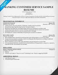 Customer Service Example Resume by Exciting Sample Resume For Customer Service Representative In Bank