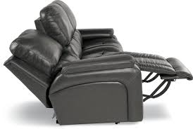 Black La Z Boy Power by Casual Power La Z Time Full Reclining Sofa With Bucket Seating By
