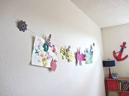 diy clothesline art display display playrooms and room