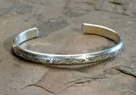 silver cuff bracelet with images Half round sterling silver cuff bracelet with handmade native jpg