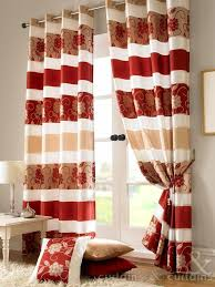 Gold Living Room Curtains Jasmine Floral Red U0026 Gold Taffeta Eyelet Lined Curtain Red