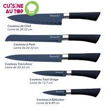 couteaux cuisine lot de 5 couteaux de cuisine sunnecko lame acier inoxydable