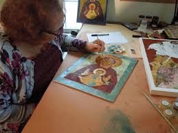 Painting Icon Iconography Apprenticeship Agape Sacred Art Learn Icon