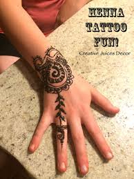 creative juices decor henna tattoo fun a great teenage party idea