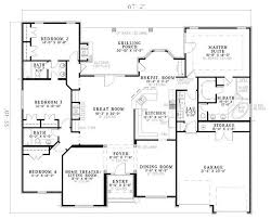 large home floor plans home plans homepw05058 5 250 square feet