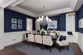 what a luxurious dining room design love the wall color the