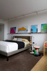 Track Lighting Bedroom Circular Track Lighting Bedroom Contemporary With White Walls Side