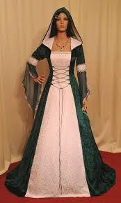 Green Wedding Dresses Medieval Dress Handfasting Dress Renaissance Dress Celtic