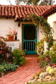 spanish colonial brick walk succulents patios salerosos