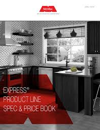merillat kitchen cabinet hinges express product line spec price book