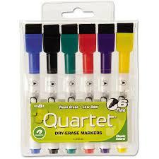 quartet enduraglide dry erase marker bullet tip assorted colors