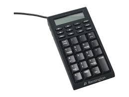 calculator hub kensington k72274us black 19 normal keys usb keypad calculator mini