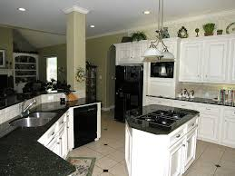 white kitchen island with black granite top kitchen seductive kitchens with black granite countertops and