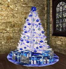white christmas trees second marketplace blue n white christmas decor set tree w