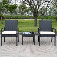 Patio Table And Chairs Set 3 Pcs Outdoor Rattan Patio Furniture Set Outdoor Furniture Sets