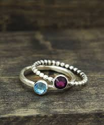 stackable birthstone ring birthstone rings