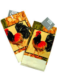 roosters kitchen towels set of two 13 95 country rooster