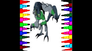 ben 10 how to draw new benwolf alien coloring pages for kids mary