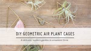 geometric home decor diy geometric air plant cages home decor tutorial mr kate youtube
