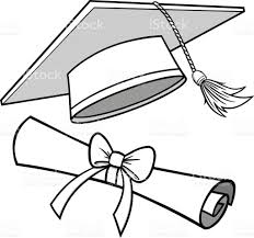 graduation diploma graduation cap and diploma illustration stock vector more