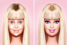 Barbie Meme - images of first ever make up free barbie hit the internet bossip