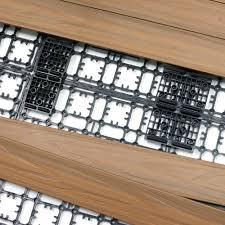 Teak Floor Tiles Outdoors by Newtechwood 8 64 Sq Ft Deck A Floor Premium Modular Outdoor